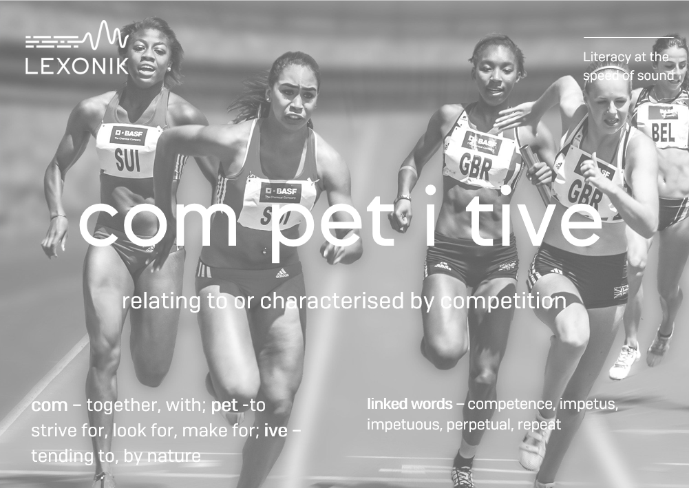 morphemic analysis of the word competitive