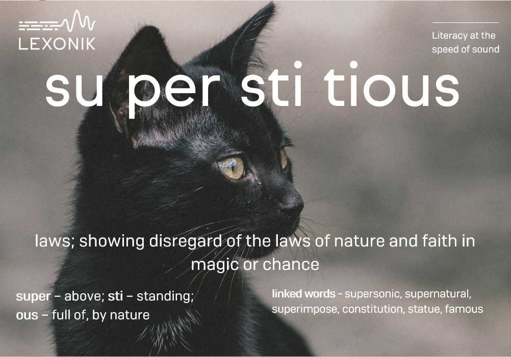 morphemic analysis of the word superstitious