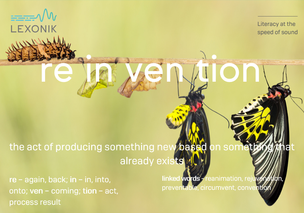 morphemic analysis of the word reinvention
