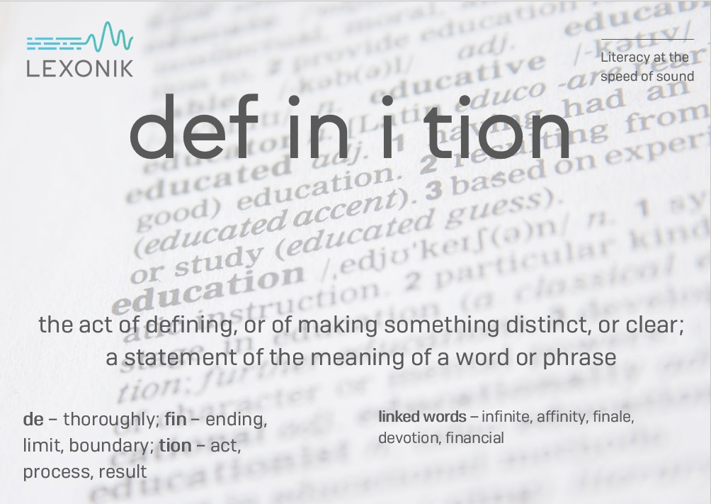 morphemic analysis of the word definition