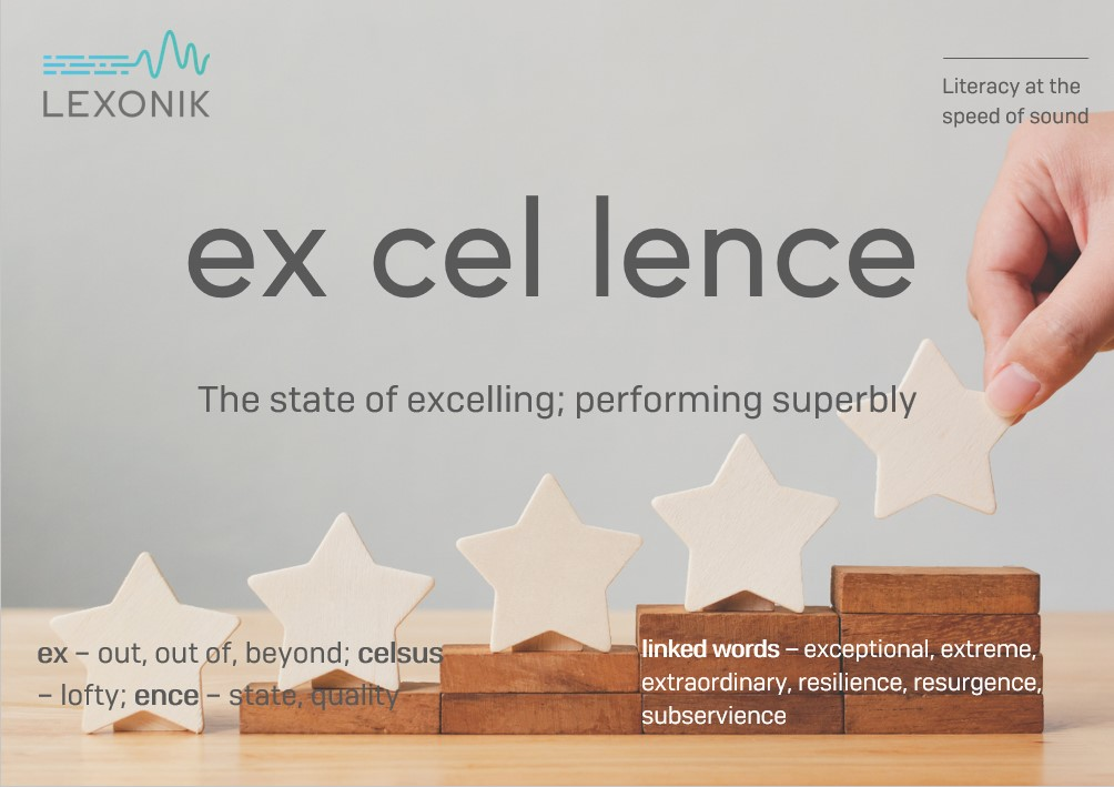 morphemic analysis of the word excellence
