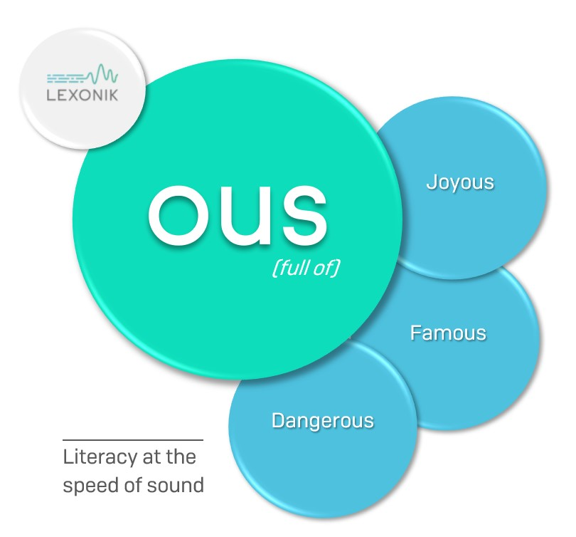 Words with the suffix ous